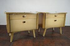 50s Vintage Mini Sideboard Nachtkonsole Beistelltisch Nachttisch Mid-Century 1/2