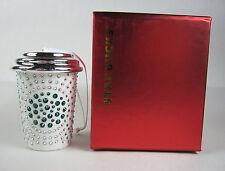 2014 Starbucks Swarovski Christmas Ornament Coffee Cup New in Box