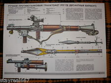 Authentic Soviet Military Poster A-Tank Rocket-Propelled Grenade Launcher RPG-7D