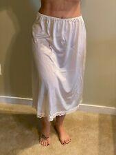 Vintage Deena Beige Nylon Half Slip with lace Size Lg