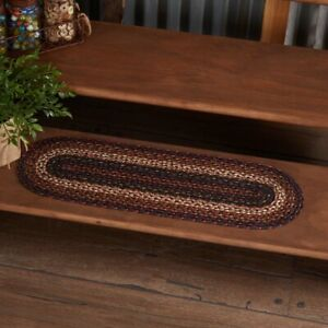"VHC Brands Country 8.5""x27"" Stair Tread Red Beckham Textured Blend Floor Decor"