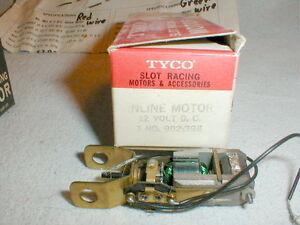Tyco 902 12 Volt In-Line Slot Car Motor 1960 Vintage NOS Photocopy Instructions