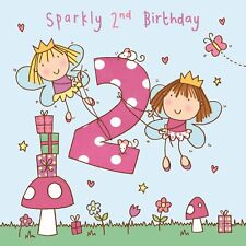 2 Year Old Card -Age 2 Card -2nd Birthday Card For Girl -Girl Age 2 Card -Fairy