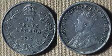 Canada : 1912  10 Ct  AU  # 22  IR4748