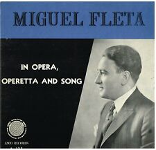 Miguel Fleta: In Opera, Operetta And Song - LP