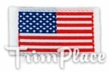 """TRIMPLACE 5/8 """" X 1-1/8"""" Stick on Mini Woven American Flag. 25 Pieces"""