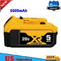 20Volt For DEWALT DCB206-2 20V MAX LITHIUM ION XR 5.0AH PACK BATTERY DCB205-2