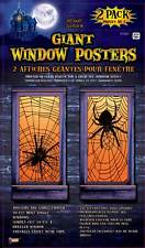 "2 Giant Spider Web Window Posters Covers Halloween Party Prop Decoration 30""x60"""