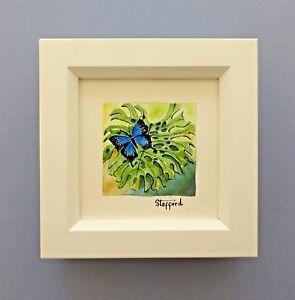 "Framed Original Miniature  Watercolour ""Ulysses Butterfly"" Cairns, Queensland"