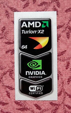 AMD Turion 64 X2/Nvidia Graphics/Wi-Fi Certified Combo Sticker 27.5 x 53mm