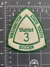 Vintage Washington State Youth Soccer District 3 Patch WSYS Dist. Three Football