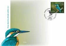 Latvia 2020 (08-2) Birds of Latvia - Common Kingfisher(u.fdc)