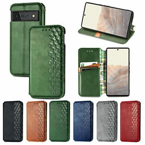 For Google Pixel 6 4a 5a Leather Wallet Card Slot Magnetic Flip Case Stand Cover