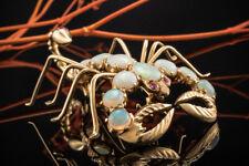Schmuck Großer Skorpion Brosche Anhänger Nadel mit Opal und Rubin 750er Gelbgold