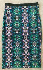 TOPSHOP NEW w Tags RP£36 PRINTED KNEE LENGTH Body-con PENCIL TUBE SKIRT SIZE 6