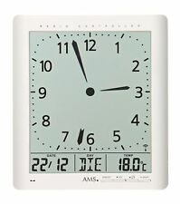 AMS 5896 Wall Clock with Battery-Powered Quartzwerk