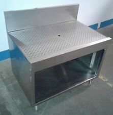 "36"" Wide Stainless Steel Drainboard, Workboard with Storage.Restaurant/Under Bar"