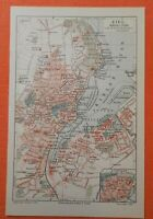 KIEL Kaiserliche Werft Kriegshafen historischer Stadtplan 1906