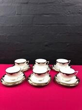 6 x Minton Versailles H5285 Tea Trios Cups Saucers and Side Plates Set