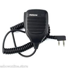 2 PIN PTT Speaker Mic Microphone FOR BAOFENG KENWOOD TYT Retevis HYT Radio