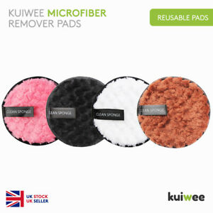 Microfiber Reusable Makeup Remover Pads Face Puff Facial Cleaning (4 COLOURS)