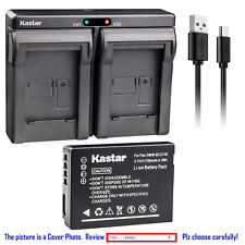 Kastar Battery Dual Charger for Leica BP-DC7 BC-DC7 & LEICA V-LUX 20 Camera