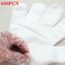 100-1200PCS Plastic Clear Disposable Gloves Food Cleaning Catering Beauty USA