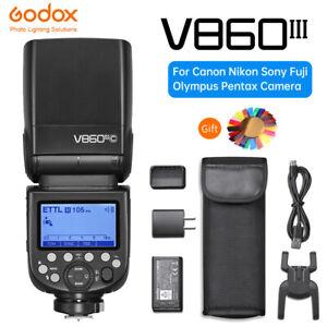Godox V860III V860 III E-TTL II HSS Flash Light Speedlite for C/N/S/F/O/P Camera