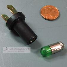 VDO FASSUNG 7mm mit LED GLÜHLAMPE  grün - green 12V SOCKEL BA 7s   DIN 49710