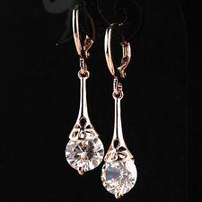 bijou boucles d'oreilles pendantes doré à l'or jaune Swarovski® Elements