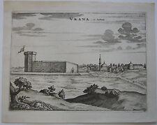 Vrana Ansicht Dalmatien Kroatien Orig Kupferstich Mortier 1704