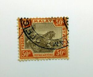 FMS 1922-1934 50c SG74b black & orange-brown USED BN105