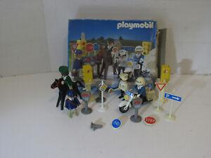 playmobil© 3489 Polizei City Politesse Schilder Motorrad OVP KOMPLETT MEGA selte