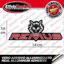 1 Adesivo/Sticker REMUS EXAUST ALTE TEMPERATURE 200 GRADI scarichi marmitte NEW