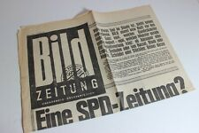 BILDzeitung 26.10.1970 Oktober Umschlagsseiten / 4 Seiten   SPD CDU Zeitung?