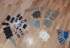 Konvolut 1,5 Kg Lego Eisenbahn blaue + graue Schienen Kurven Weichen Waggons