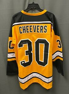 """Gerry Cheevers """" HOF 1988 """" Signed Bruins Jersey Autograph Sz XL JSA WITNESSED"""