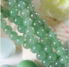"8mm Green Emerald  Round Jade Gemstones Loose Bead 15""kkllyuyu"