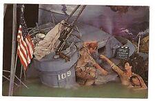 John F. Kennedy PT 109 Set MOVIELAND WAX MUSEUM Buena Park CALIFORNIA Postcard
