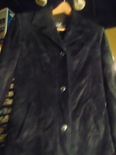Lady's Jacket Maxima Wilson Leather black swede size S casual style dry clean