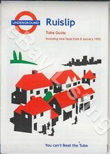ORIGINAL LONDON UNDERGROUND WALLET SIZE GUIDE FOR TRAINS FROM RUISLIP 1995