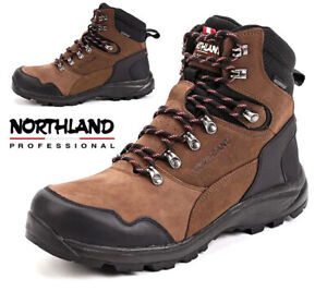 NEW MENS WATERPROOF LEATHER HIKING BOOTS WALKING TRAIL TREKKING TRAINERS SHOES