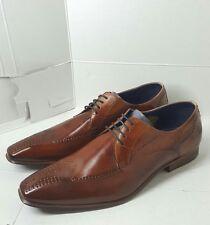 Daniel Hechter Paris Leather Shoes UK12 size Brown Color Authentic w/o box