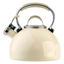 Prestige 50559 2L Whistling Kettle Porcelain Enamel Fashionable Stylish - Almond
