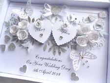 Handmade Personalised Card, Engagement, Anniversary, Wedding Day Box