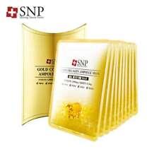 SNP Gold Collagen Ampoule Essence Moisturizing Firming Facial Face Mask 10 Sheet