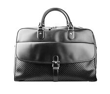 MONTBLANC MEISTERSTUCK XLARGE BAG BRIEFCASE BLACK LEATHER WEEKENDER NEW $2750.00