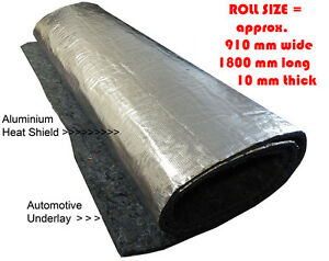 Underfelt Underlay with aluminium heat shield suit Moulded Car Carpets