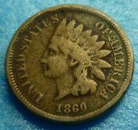 1860 Indian Head Cent    Better Grade  #Q60-2