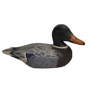 L. Aldrich Hand Carved Wood Duck Mallard Drake - 13 Inches - Signed Vintage